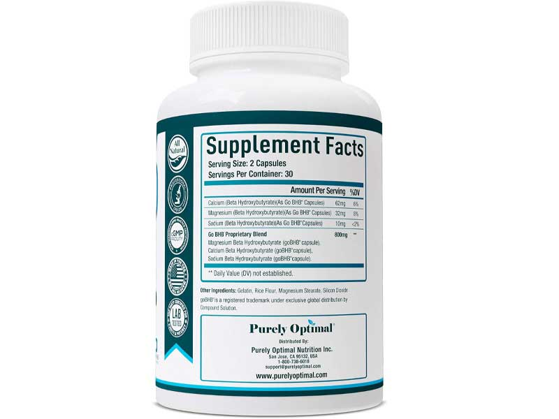 Supplement fact Pure Quality, Optimal Results